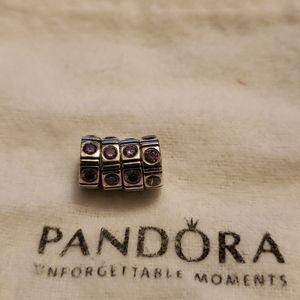 25$ each. Pandora cubic zirconia pink spacers.